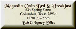Magnolia Oaks B&B in Columbus TX