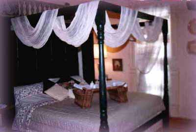 a canopy bedroom at Magnolia Oaks
